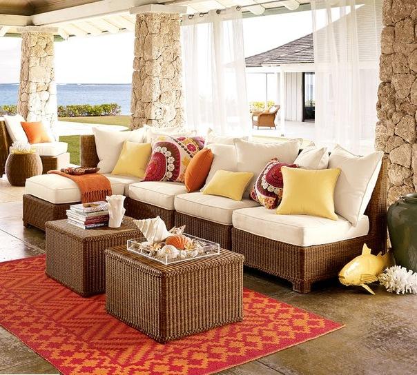Indoor seat cushions