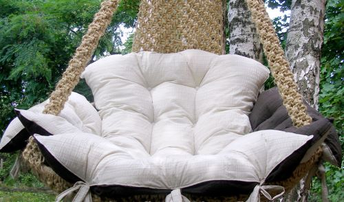 Soft outdoor seat cushions